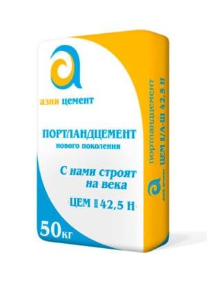 Цемент М500 Д20 (ЦЕМ II/А-Ш 42,5Н), мешок 50 кг, «Азия Цемент»