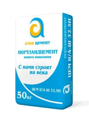 Цемент М400 Д20 (ЦЕМ II/А-Ш 32,5Н), мешок 50 кг, «Азия Цемент»