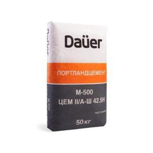 Цемент М500 Д20 (ЦЕМ II/А-Ш 42,5Н), ТМ «DAUER»