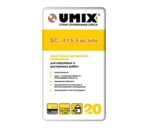 Шпатлевка SC-415 Facade «UMIX», 20 кг