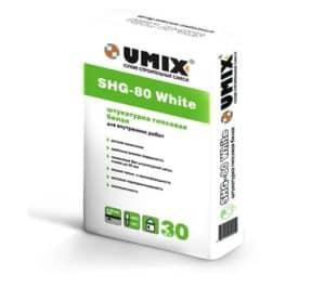 Штукатурка SHG-80 White «UMIX», 30 кг