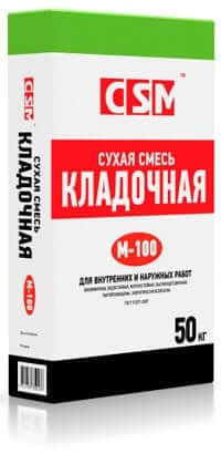 Смесь кладочная М100 «CSM», 50 кг