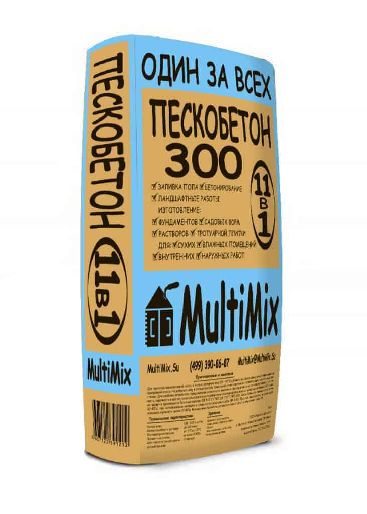 пескобетон м300 пропорции воды