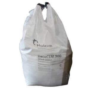Белый цемент DecoCEM 500 Д0 (ЦЕМ I 52,5Н), биг-бэг, 1 тн, «Holcim»