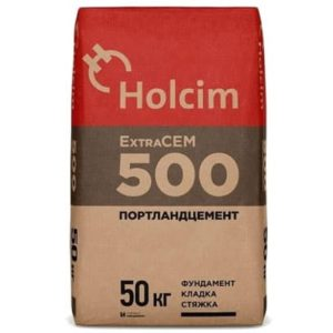 Цемент ExtraCEM М500 Д0 (ЦЕМ II/А-И 42,5Б), мешок 50 кг, «Holcim»