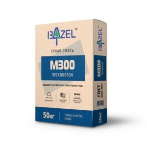 Смесь М300 пескобетон «Bazel»