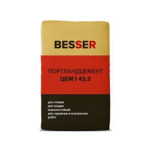 Портландцемент М500 Д0 ЦЕМ I 42,5, мешок 50 кг, «Besser»